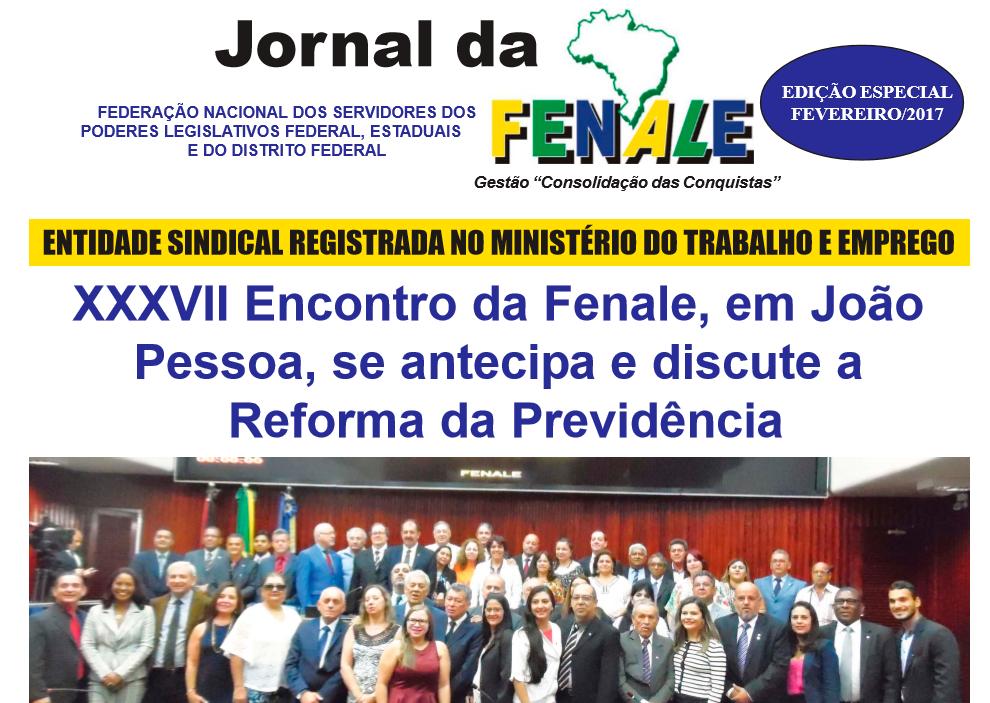 JORNAL DA FENALE: EDIÇÃO ESPECIAL FEVEREIRO/2017
