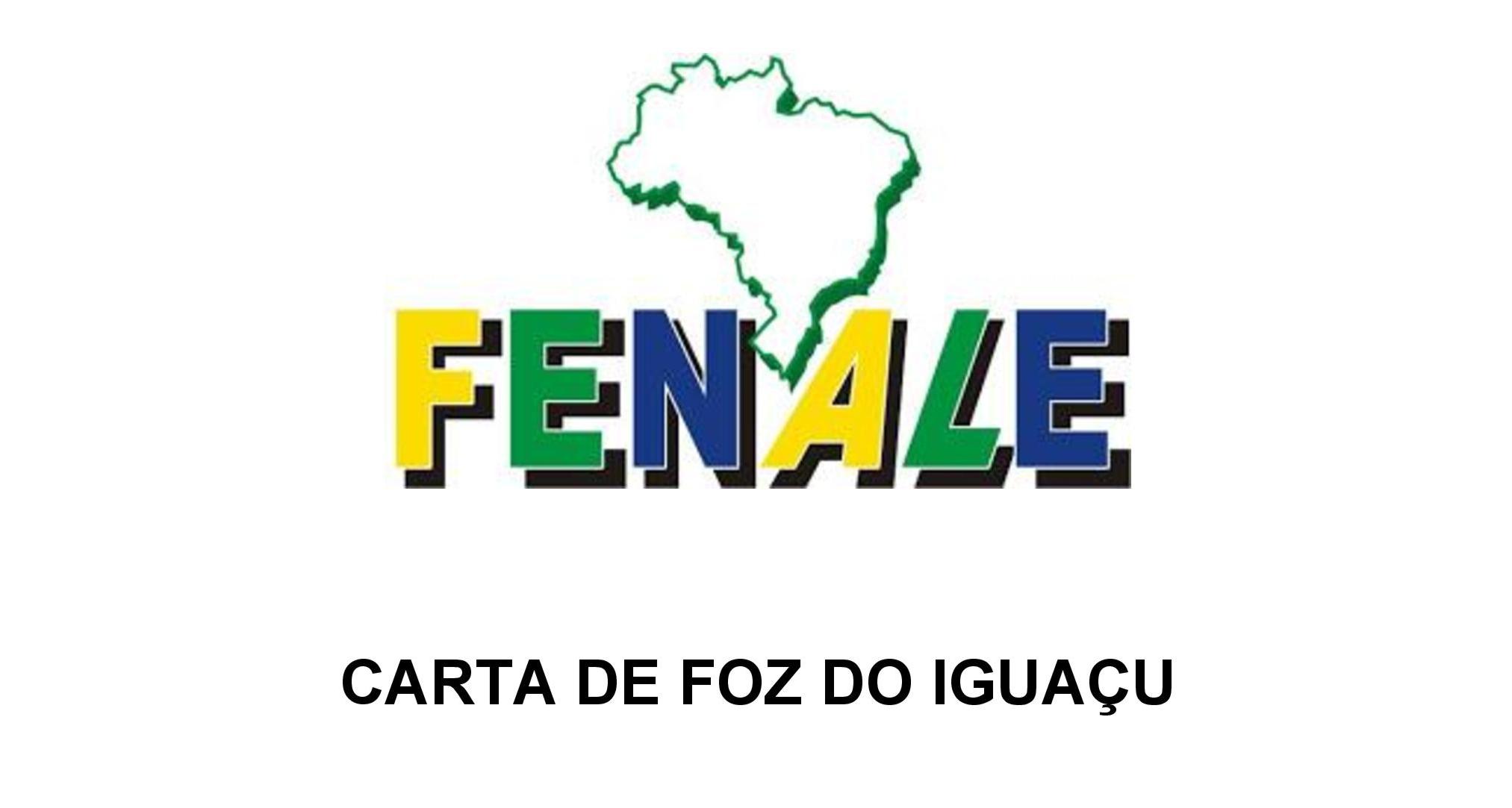 CARTA DE FOZ DO IGUAÇU 06-06-2017