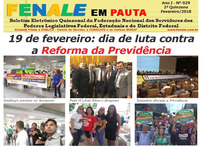 FENALE EM PAUTA Nº 29 – Fevereiro DE 2018