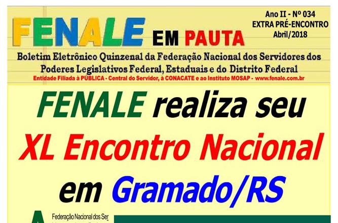FENALE EM PAUTA Nº 34 – EXTRA PRÉ ENCONTRO 2018