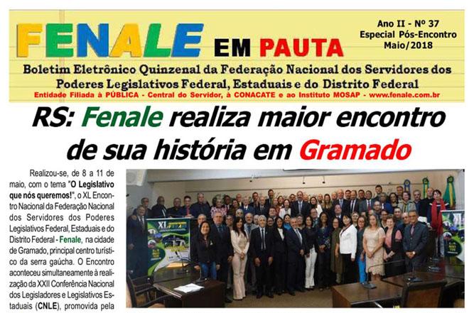 FENALE EM PAUTA Nº 37 – Especial – Pós Encontro Maio de 2018