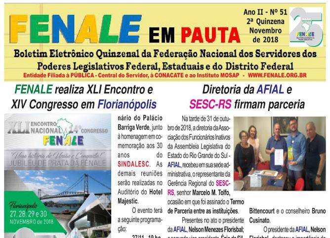 Fenale em Pauta 51° 2018