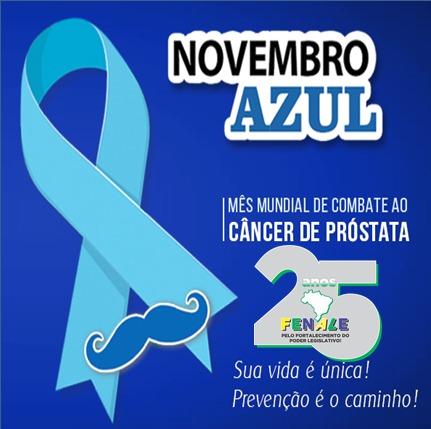 Novembro Azul – Mês Mundial de combate ao câncer de próstata.