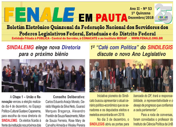 FENALE EM PAUTA – ANO II – Nº 53 2018