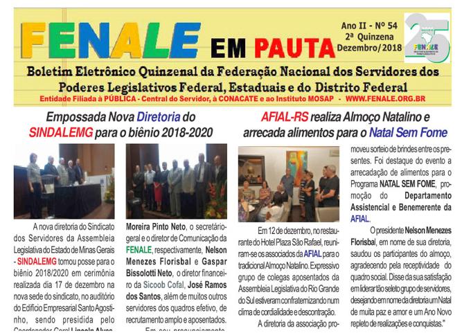 FENALE EM PAUTA – ANO II – Nº 54 2018