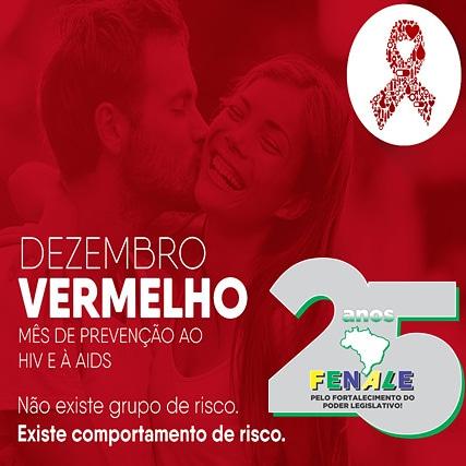 Dezembro vermelho-Mês da prevenção ao HIV e à AIDS