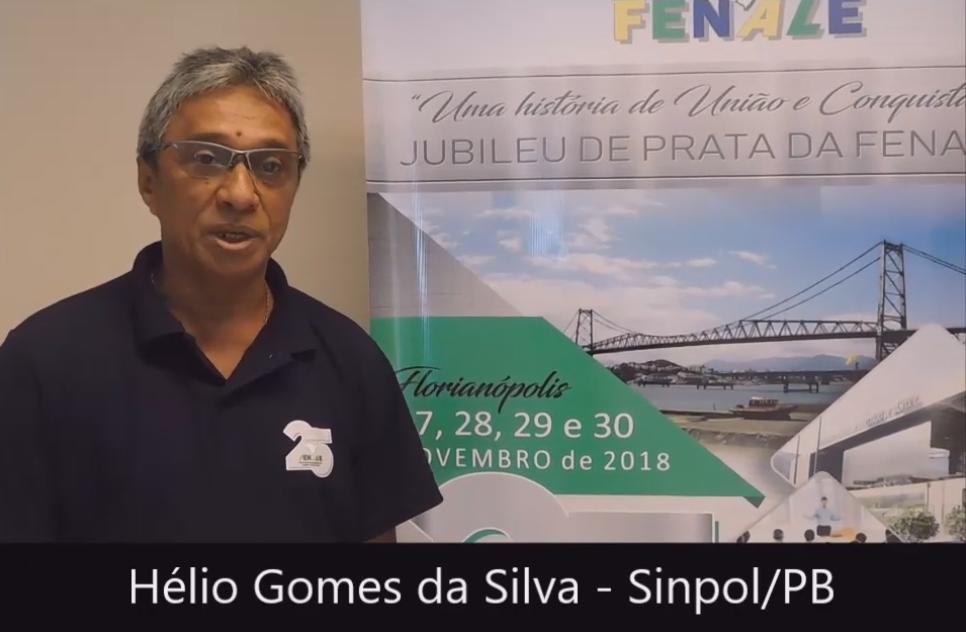 Depoimento – Hélio Gomes da Silva – Sinpol-PB