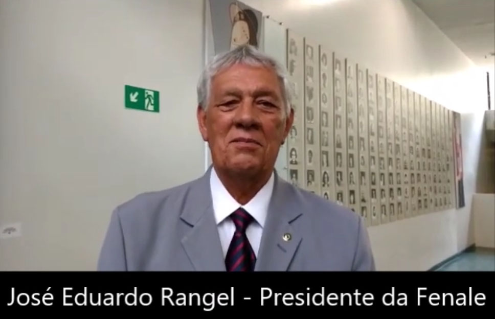Presidente da FENALE, José Eduardo Rangel, fala da reunião das entidades com o líder do Governo na Câmara dos Deputados