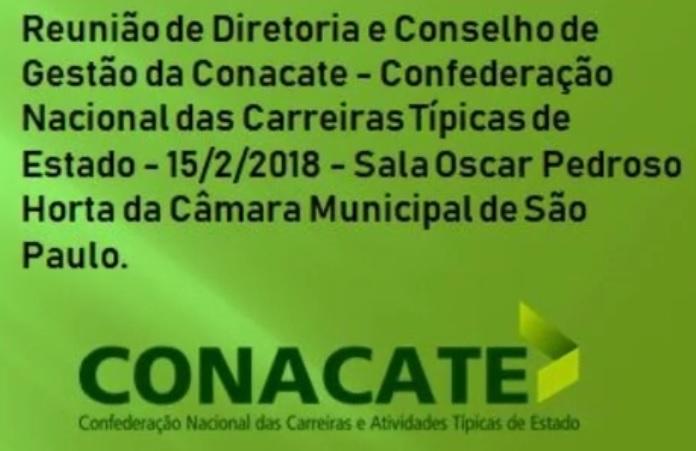 José Eduardo Rangel Presidente Reunião da CONACATE