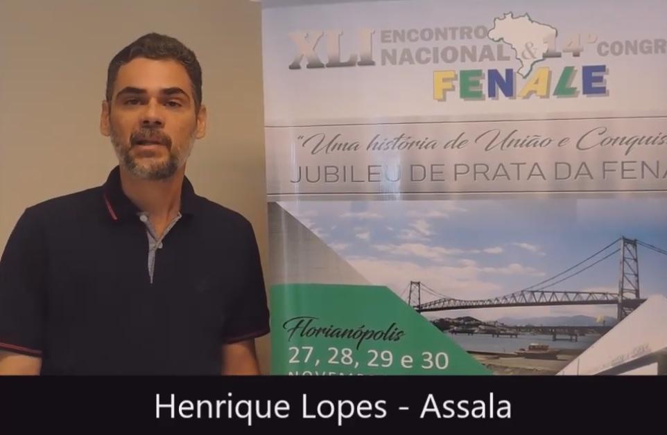 Depoimento de Henrique Lopes Vice Presidente da Assala AL