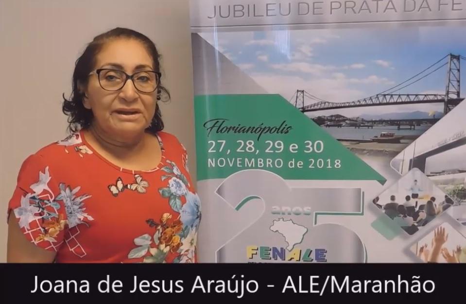 Depoimento Joana de Jesus Araújo – ALE Maranhão