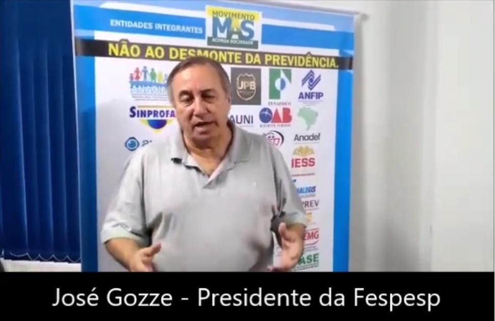 Depoimento de José Gozze, presidente da Fespesp e vice presidente