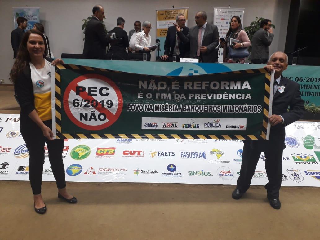 ASPAL, AFALESP, SINDAP e FENALE representadas no Lançamento da Frente  Parlamentar Mista em Defesa da Previdência Social