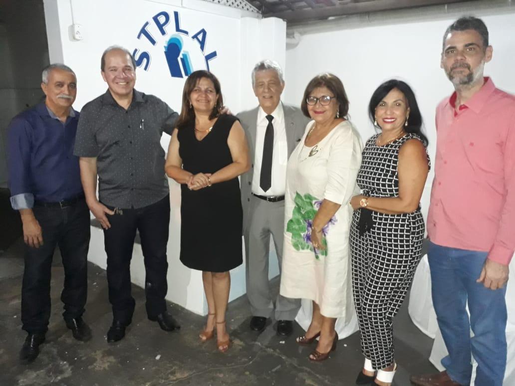 José Eduardo Rangel, presidente da FENALE prestigiou, nesta sexta-feira dia 10/05/2019,  a posse da Diretoria do STPLAL