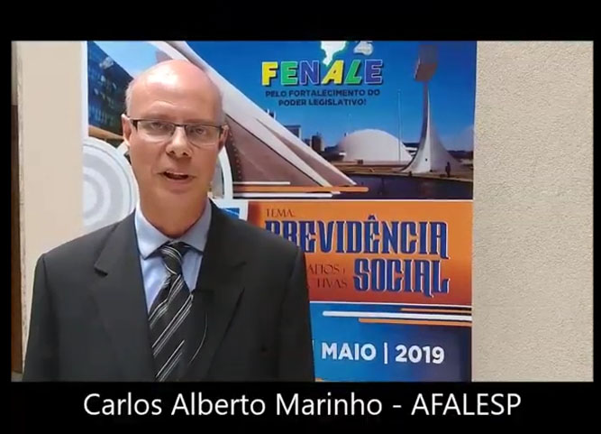 Depoimento de Carlos Alberto Marinho, presidente da AFALESP