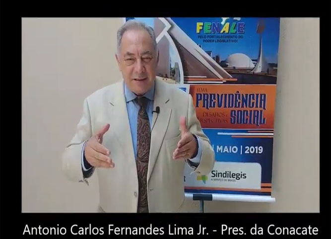 Depoimento de Antônio Carlos Fernandes,  presidente da CONACATE e da FENALEGIS