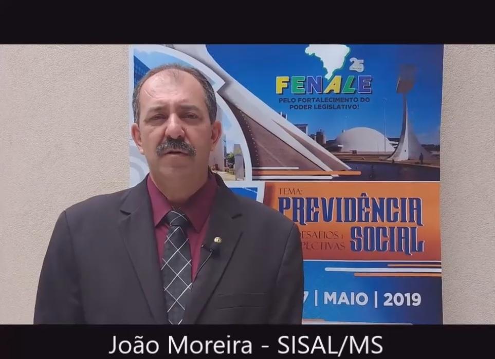Depoimento de João Moreira, tesoureiro da Fenale e presidente do SISALMS