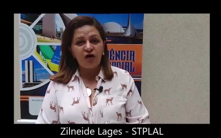 Depoimento de Zilneide Lages, presidente do STPLAL