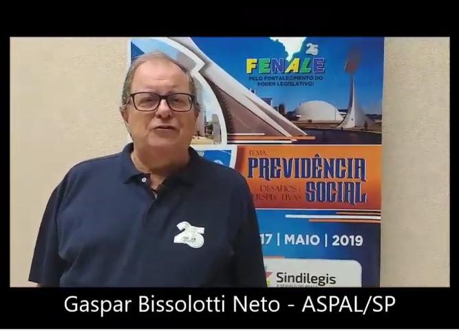 Depoimento de Gaspar Bissolotti Neto, presidente da ASPAL e diretor da FENALE