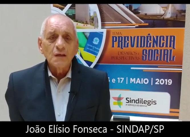 Depoimento de João Elísio Fonseca, presidente do SINDAP/SP