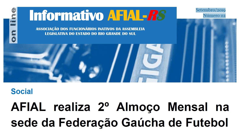 Informativo AFIAL-RS / Setembro/2019 Número 02