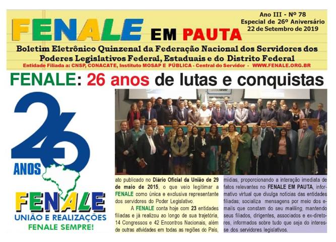 Fenale em Pauta – 26 anos de lutas e conquistas