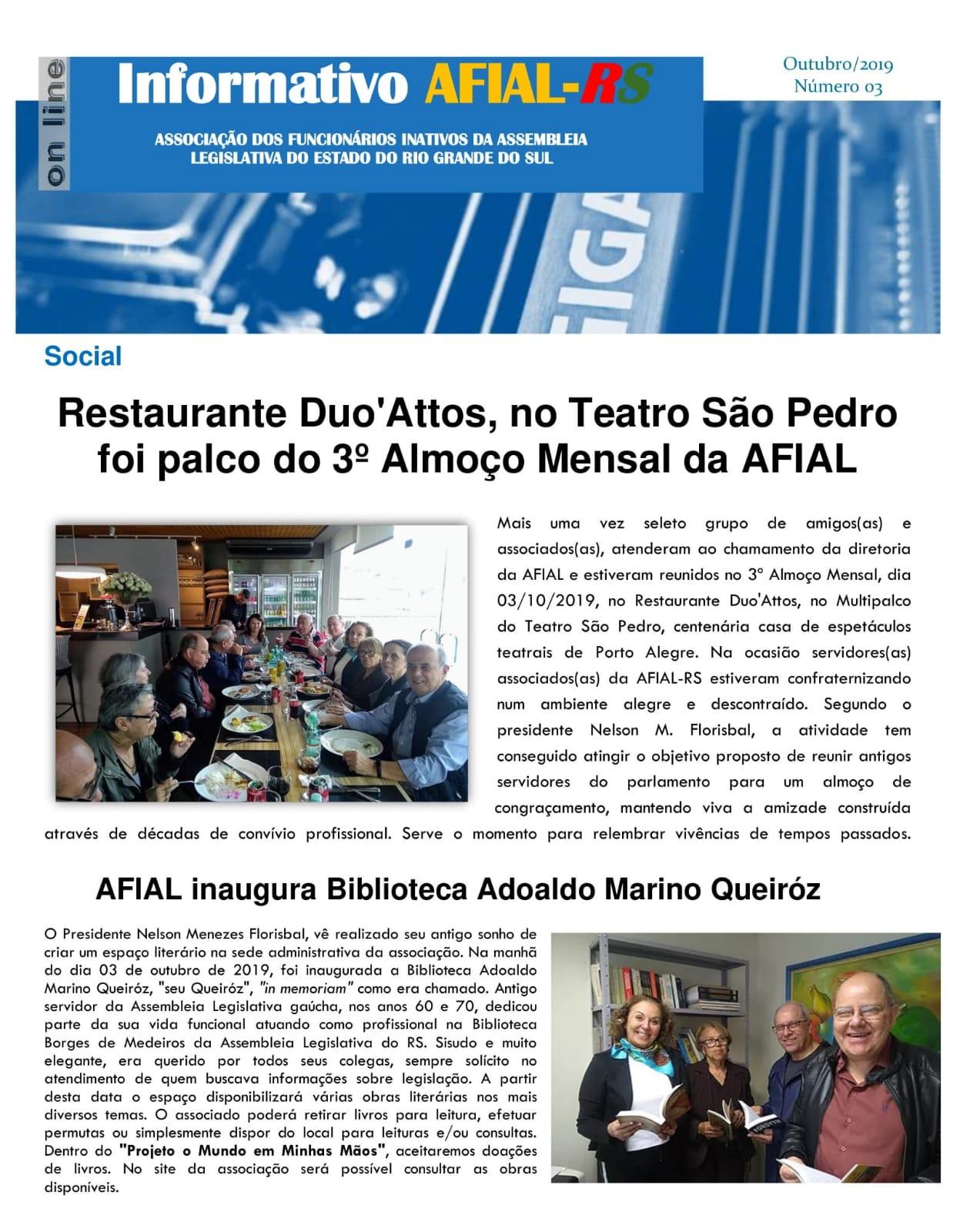 Informativo AFIAL