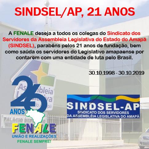 SINDSEL 21 ANOS