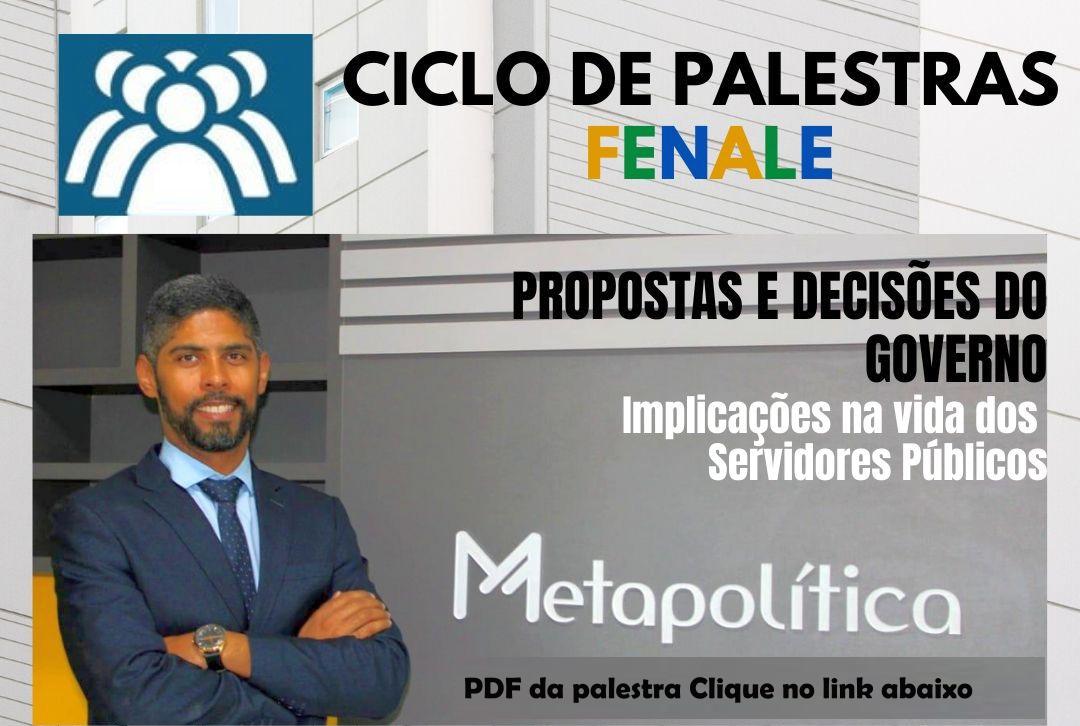 Apresentação da palestra de Jorge Misael no Ciclo de Palestras da Fenale por Videoconferência – 20/05/2020