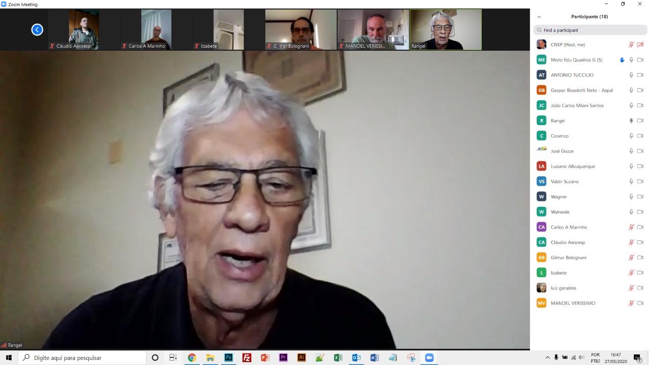 Reunião da CNSP em homenagem ao nosso diretor João Elísio Fonseca, falecido em 17/5/2020