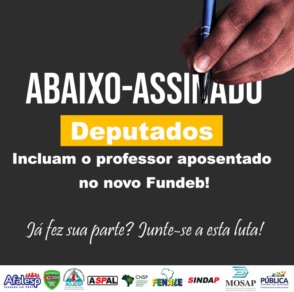 Abaixo Assinado: Inclusão dos professores aposentados na verba da Educação. Por favor assine e compartilhe